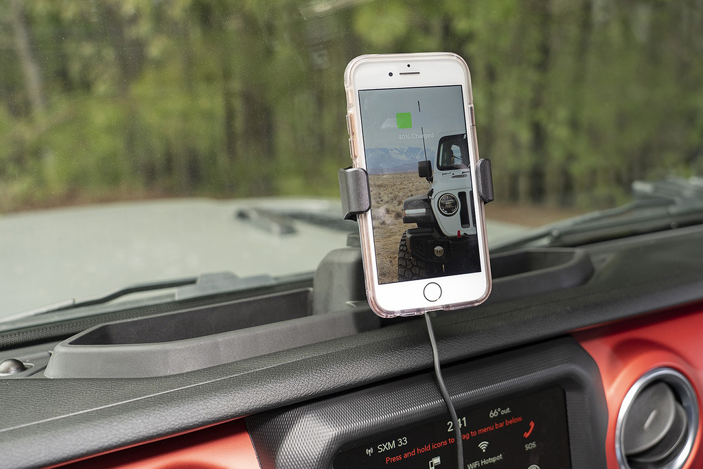 RUGGED RIDGE Dash Multi-Mount Wireless Charging Phone Kit for 18-up Jeep Wrangler JL & JL Unlimited and 20-up Gladiator JT