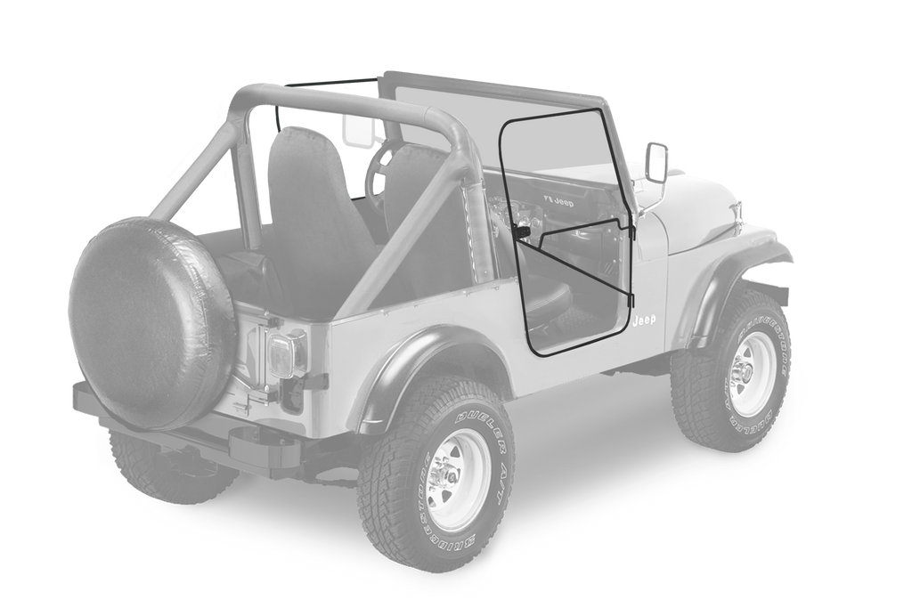 RUGGED RIDGE Soft Top Full Door Frames for 76-86 JEEP CJ-7 & CJ-8