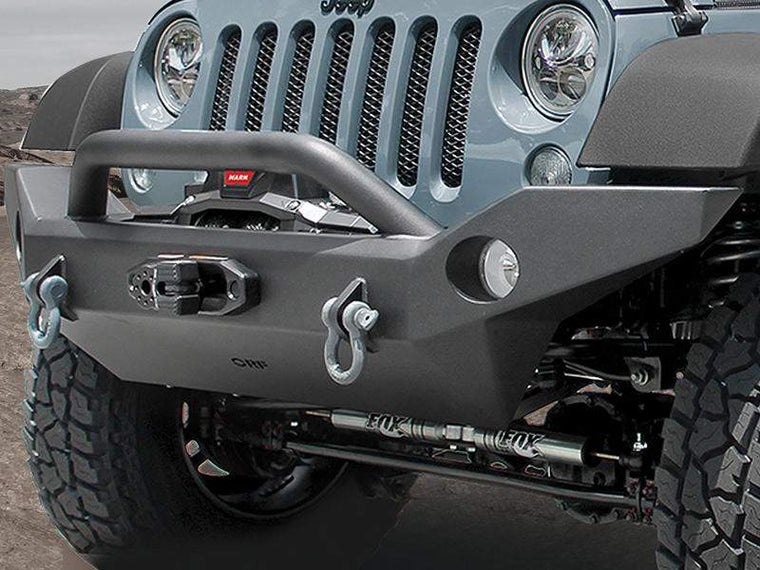 OR FAB Full Width Front Bumper With Center Winch Mount And Center Hoop For  07