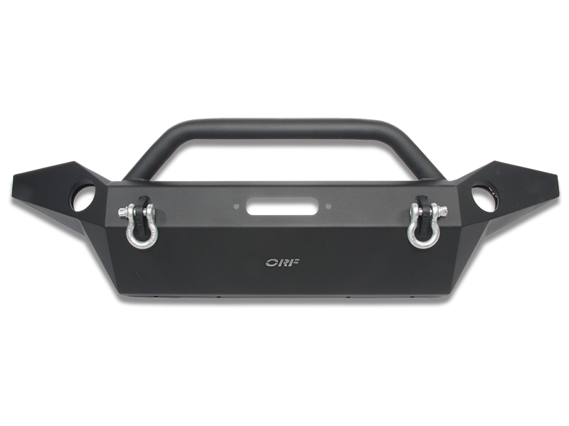 OR-FAB Full Width Front Bumper with Center Winch Mount and Center Hoop for 07-18 Jeep Wrangler JK & JK Unlimited