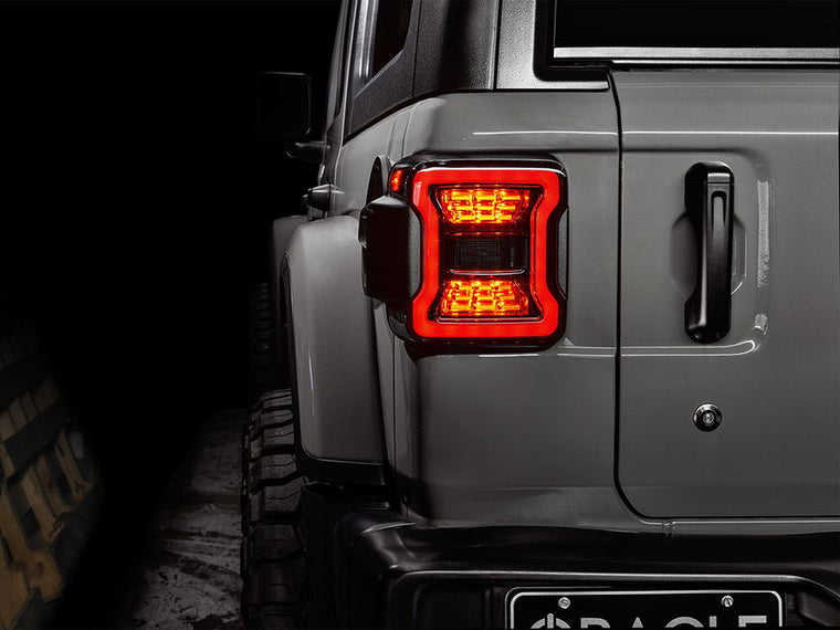 ORACLE Lighting  Black Series LED Tail Lights (Pair) for 18-up Jeep Wrangler JL & JL Unlimited