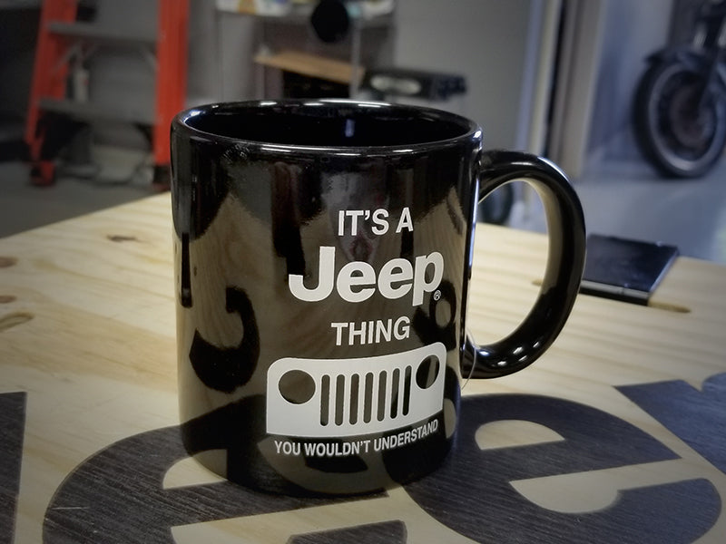 JEEP THING Ceramic 16 OZ. Black Mug