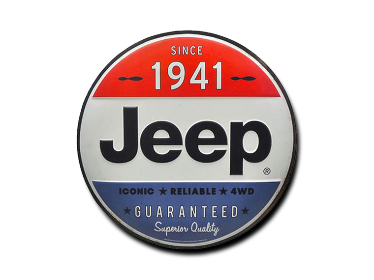 JEEP SINCE 1941 TIN BUTTON, Size: 12