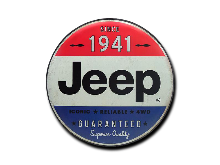 JEEP 24 INCH TIN BUTTON, 24