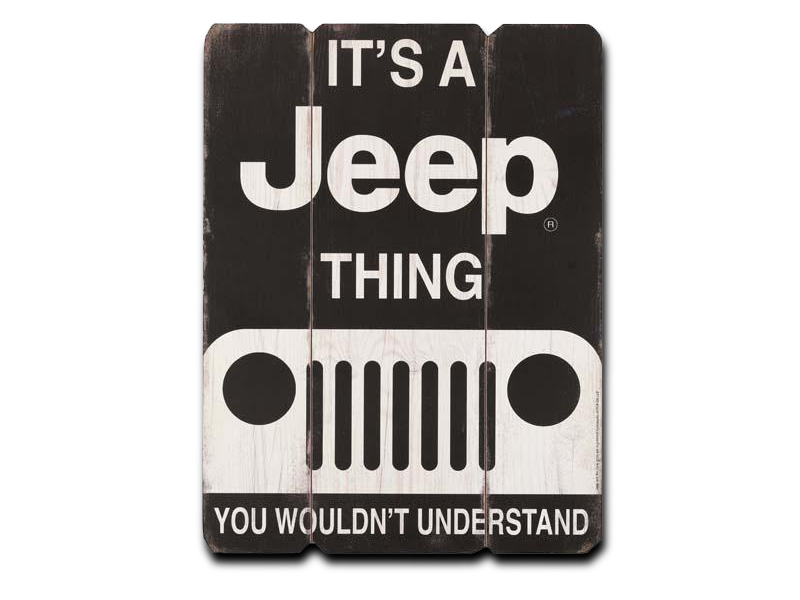 "IT'S A JEEP THING WOOD WALL ART, Size: 12"" W X 16"" H X 0.375"" D"