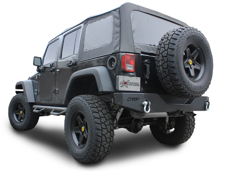OR FAB Rear Bumper, with or w/o Back Up Lights, Black Textured Black for 07-18 Jeep Wrangler JK & JK Unlimited