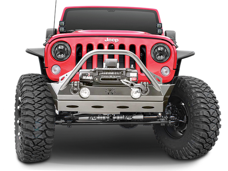 POISON SPYDER Lite Front Bumper with Brawler Bar for 07-18 Jeep Wrangler JK & JK Unlimited