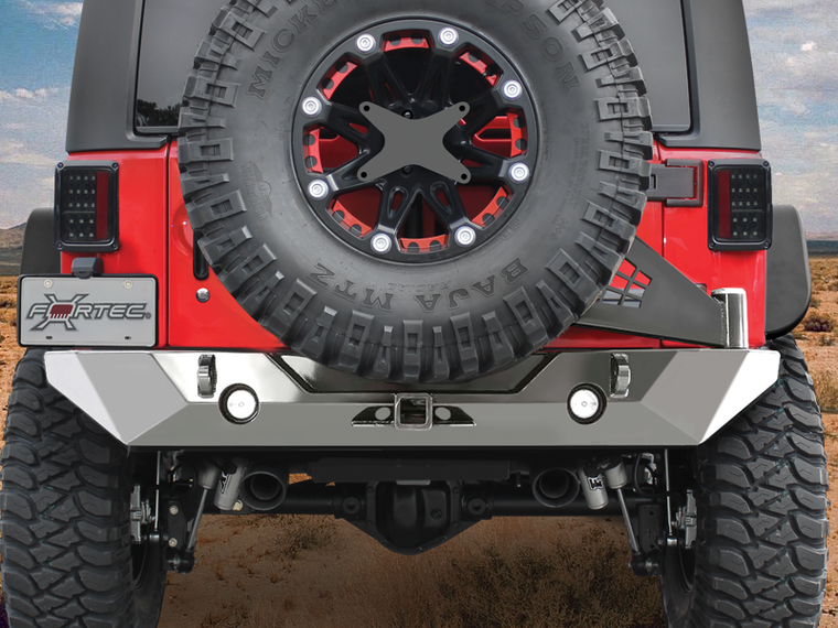POISON SPYDER Rock Brawler II Rear Bumper for 07-18 Jeep Wrangler JK & JK Unlimited
