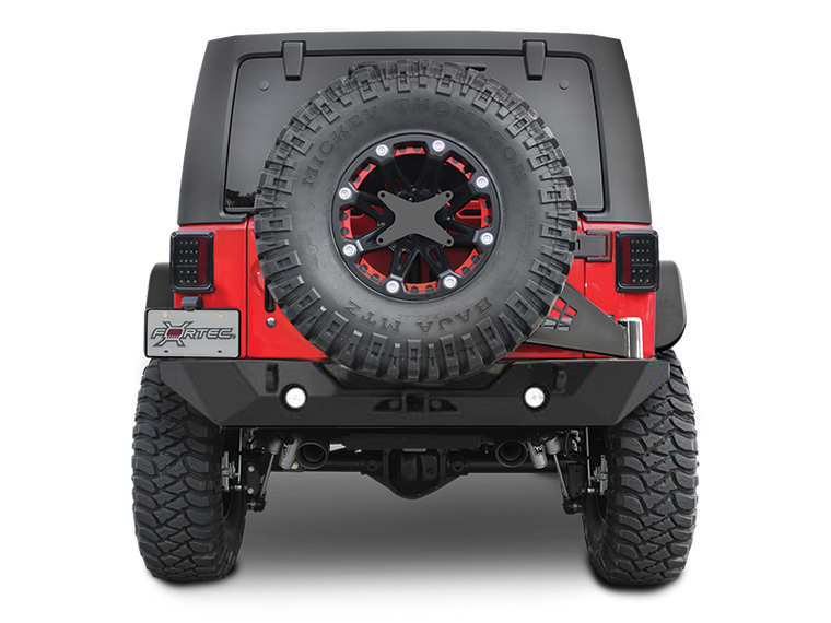 POISON SPYDER RockBrawler II Rear Bumper - Tire Carrier - SpyderShell Black for 07-18 Jeep Wrangler JK & JK Unlimited