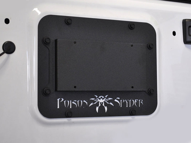 POISON SPYDER Tailgate Cover Plate for 07-18 Jeep Wrangler JK & JK Unlimited