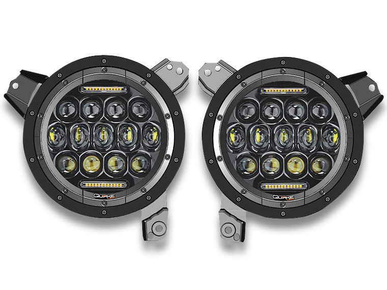 QUAKE LED Headlight Replacement Kit for 18-up Jeep Wrangler JL & JL Unlimited