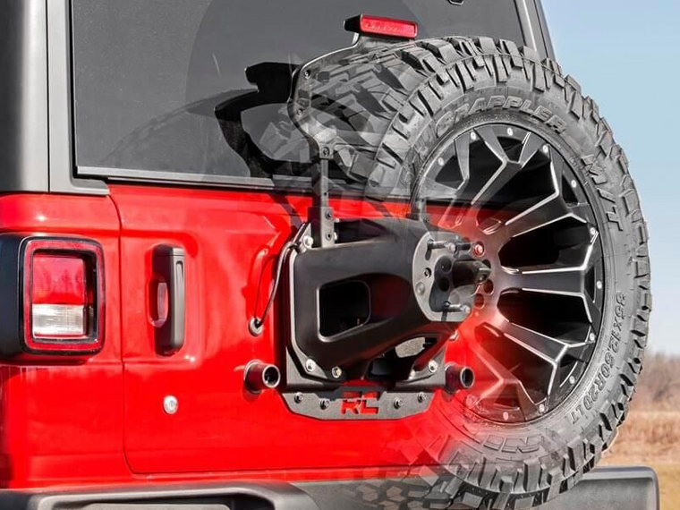 RCS Spare Tire Relocation Bracket for 18-up Jeep Wrangler JL and JL Unlimited