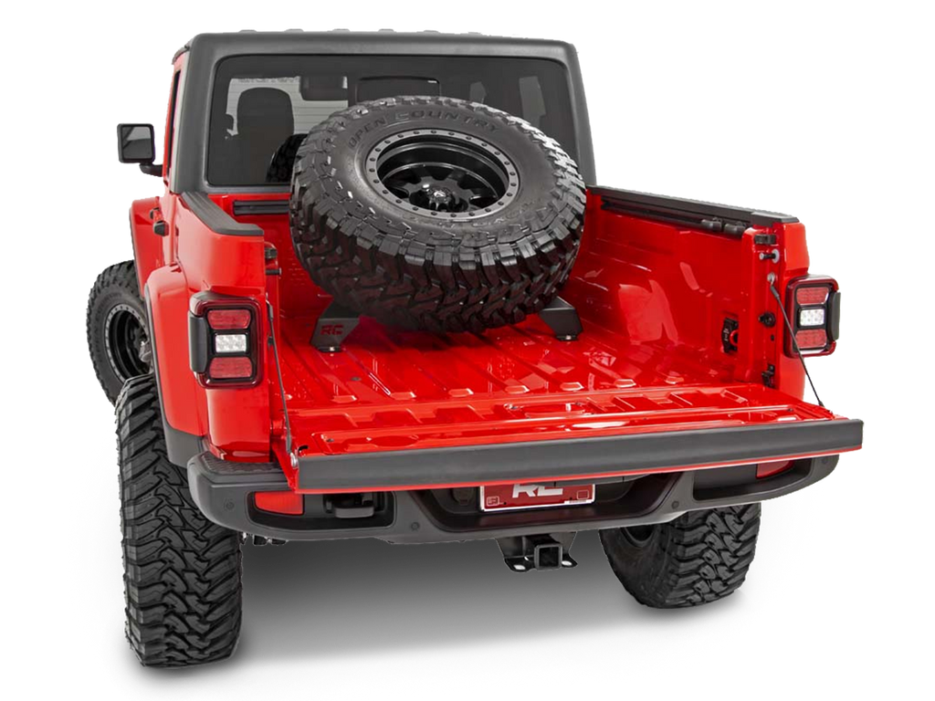 ROUGH COUNTRY Bed Mounted Tire Carrier for 20-up Jeep Gladiator JT