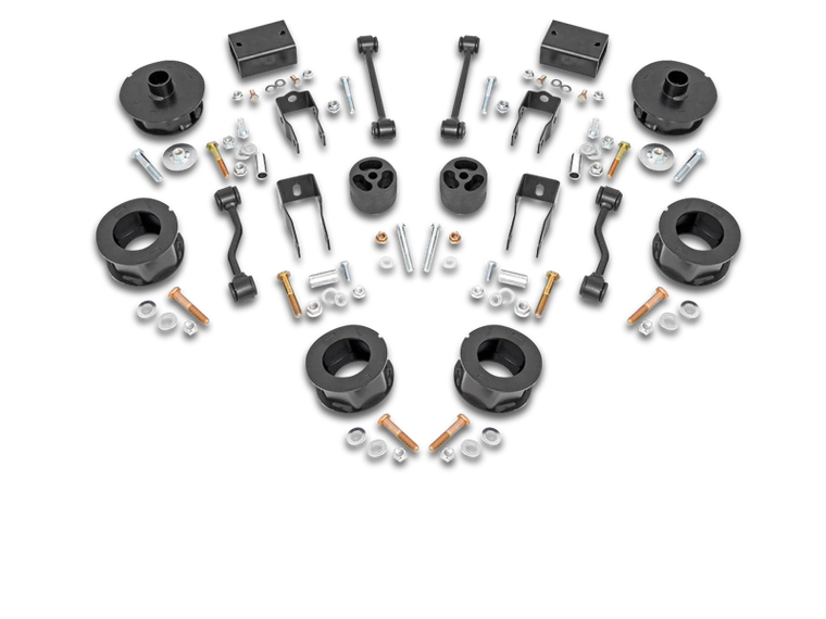 ROUGH COUNTRY 2.5in Jeep Spacer Lift Kit for 18-up Jeep Wrangler JL & JL Unlimited