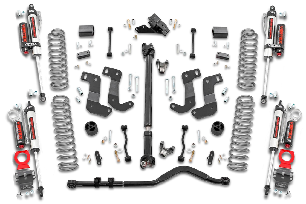 ROUGH COUNTRY 3.5in Jeep Suspension Lift Kit w/ Stage 2 Coils & Adj. Control Arms, 4-Door Only for 18-up Jeep Wrangler JL Unlimited