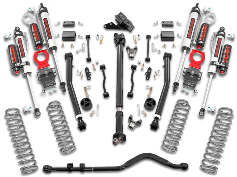 ROUGH COUNTRY 3.5in Jeep Suspension Lift Kit w/ Stage 2 Coils & Adj. Control Arms, 2-Door Only for 18-up Jeep Wrangler JL (Rubicon)