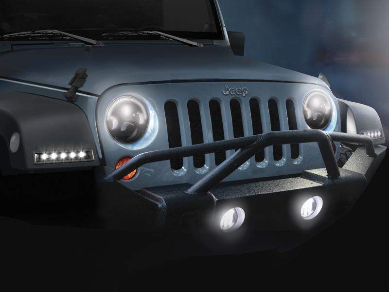 ROSTRA Precision Controls LED Daytime Running Light System for 07-18 Jeep Wrangler JK & JK Unlimited