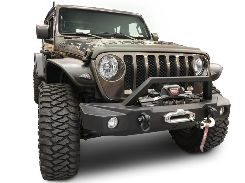 RAMPAGE TrailGuard Front Bumper for 18-up Jeep Wrangler JL & JL Unlimited