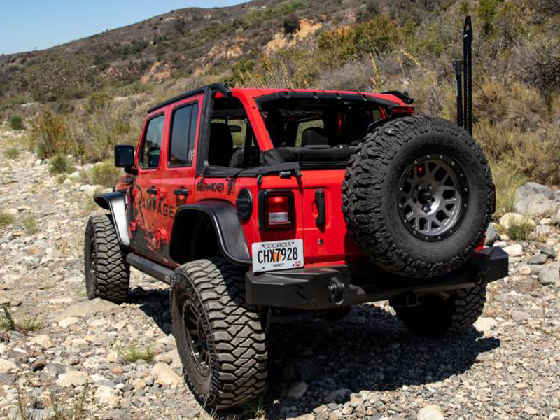 RAMPAGE TrailGuard Rear Bumper for 18-up Jeep Wrangler JL & JL Unlimited