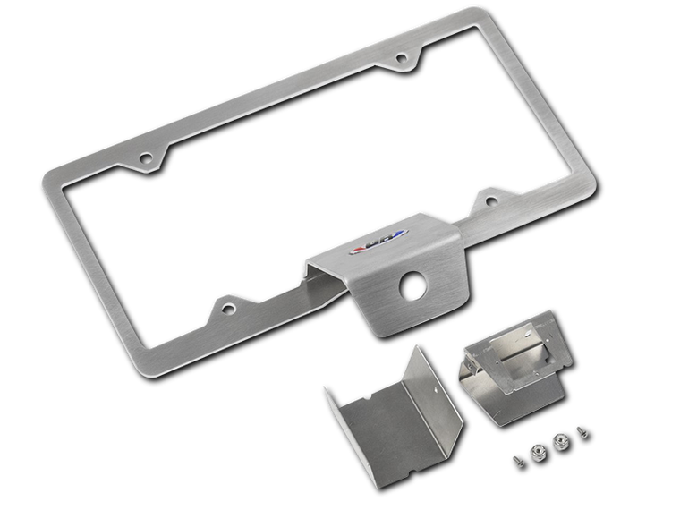 GENRIGHT OFFROAD Rear Camera Mount w/License Plate Frame for 18-up Jeep Wrangler JL & JL Unlimited