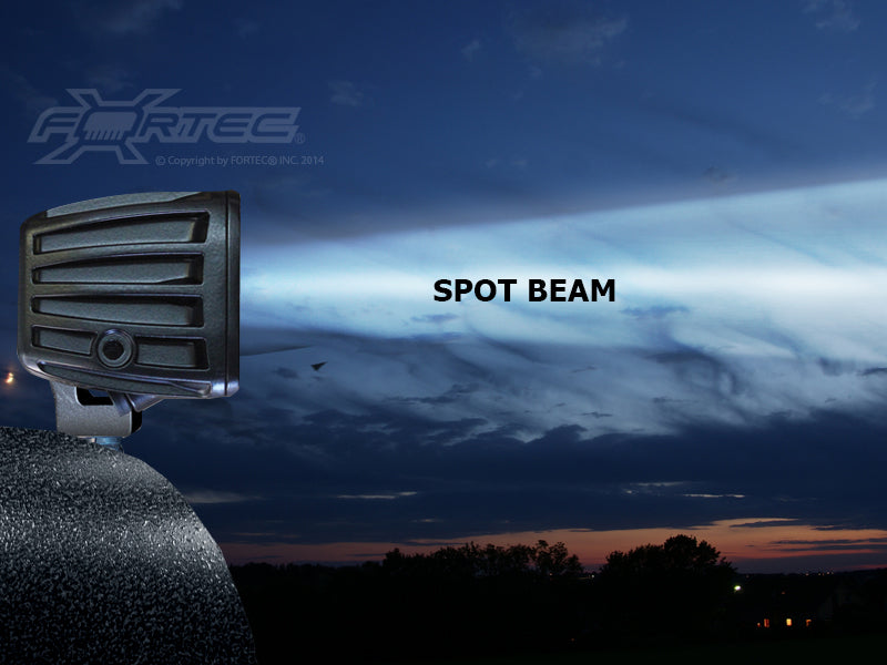 RIGID Dually D2 Midnight Edition, Clear Spot, 15W, 4 White LED, 1300 Lumens, Pair