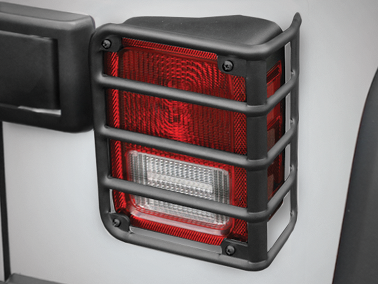 RUGGED RIDGE Euro Guard Rear Light Guards for 07-18 Jeep Wrangler JK & JK Unlimited