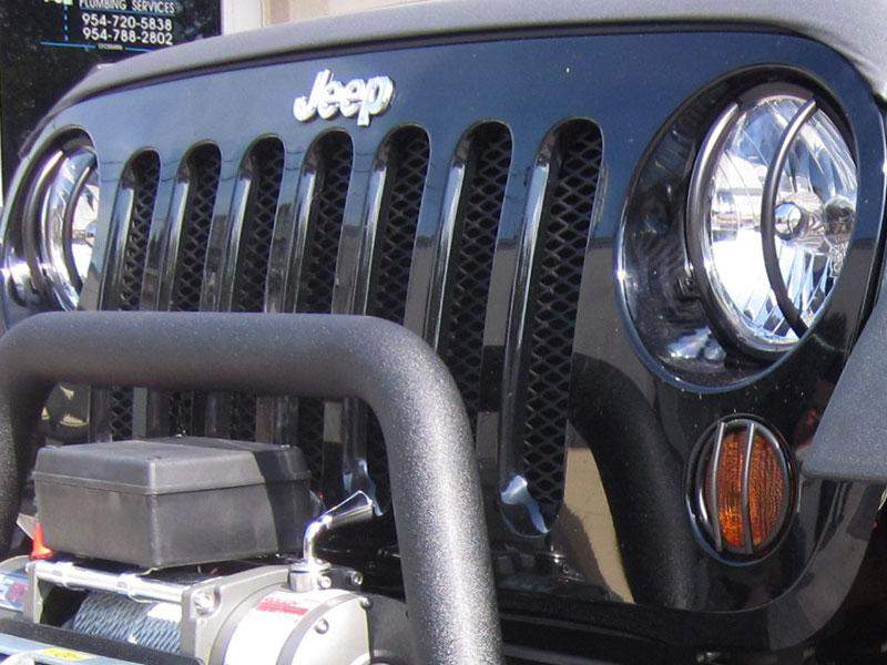 RUGGED RIDGE Front Euro Light Guards for 07-18 Jeep Wrangler JK & JK Unlimited