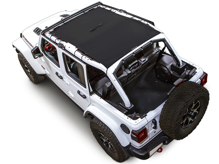 SPIDERWEBSHADE Trail Mesh Top, 4-Door Only, Black for 18-up Jeep Wrangler JL Unlimited