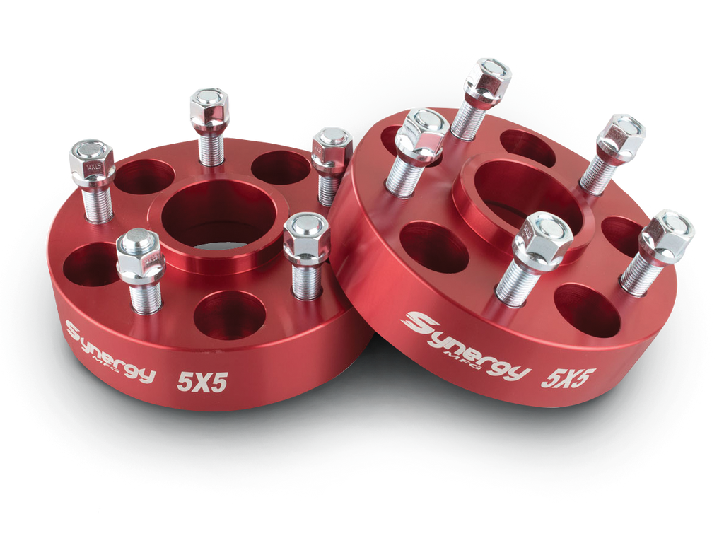 "SYNERGY MANUFACTURING 1.5"" Wheel Spacers, 5 on 5, 14mm Studs, Hub Centric, Pair for 18-up Wrangler JL & 20-up Gladiator JT"