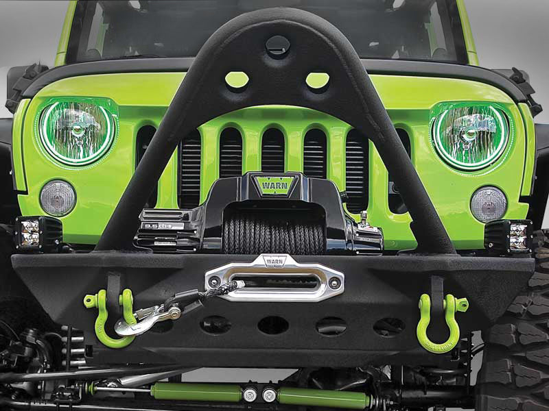 SMITTYBILT  SRC Front Stinger Bumper, Textued Black (F3) for 07-18 Jeep Wrangler JK & JK Unlimited