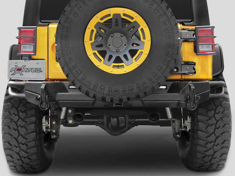 SMITTYBILT  SRC GEN II Rear Bumper, Textured Black for 07-18 Jeep Wrangler JK & JK Unlimited