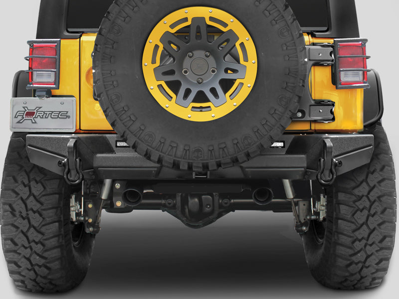 "SMITTYBILT XRC GEN 2 Rear Bumper with 2"" Receiver Hitch, Textued Black for 07-18 Jeep Wrangler JK & JK Unlimited"