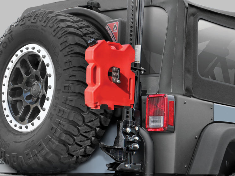 TERAFLEX Hi-Lift RotopaX Mount for 07-18 Jeep Wrangler JK & JK Unlimited