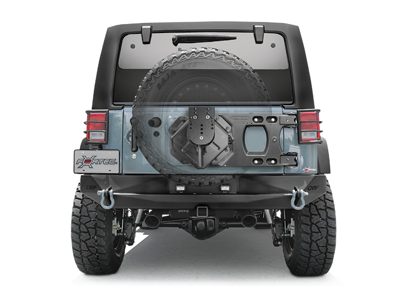 TERAFLEX HD Hinged Carrier & Spare Tire Mounting Kit for 07-18 Jeep Wrangler JK & JK Unlimited