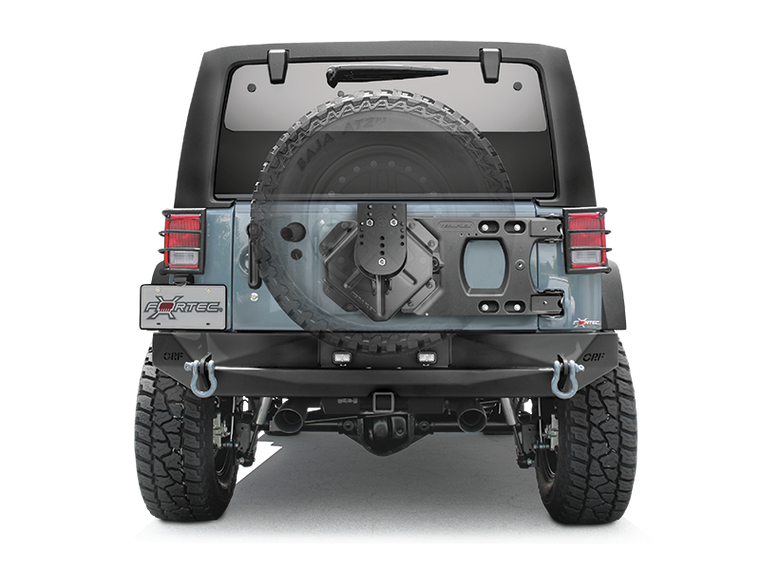 TERAFLEX HD Hinges Carrier & Spare Tire Mounting Kit for 07-18 Jeep Wrangler JK & JK Unlimited