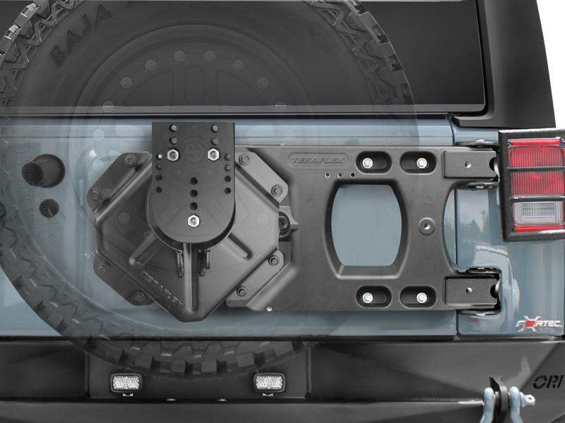 TERAFLEX HD Hinges Carrier U0026 Spare Tire Mounting Kit For 07 18 Jeep  Wrangler JK