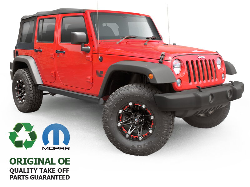 Quality Take Off MOPAR Rubicon Rock Rails, Pair Jeep Wrangler 4-Door Unlimited (JK or JL)