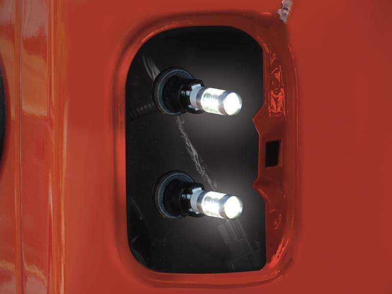 FORTEC LED Back Up Replacement Bulbs for Tail Lights (Pair) for 07-18 Jeep Wrangler JK & JK Unlimited