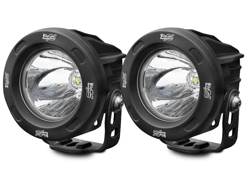 VISION X 3.25u201d Optimus Driving Lights Black For 18 Up Jeep Wrangler JL