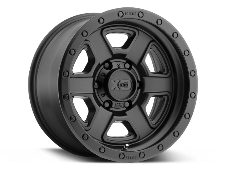 "XD133 ""FUSION OFF-ROAD"" Wheel in Satin Black for 07-18 Jeep Wrangler JK & 18-up Jeep Wrangler JL"