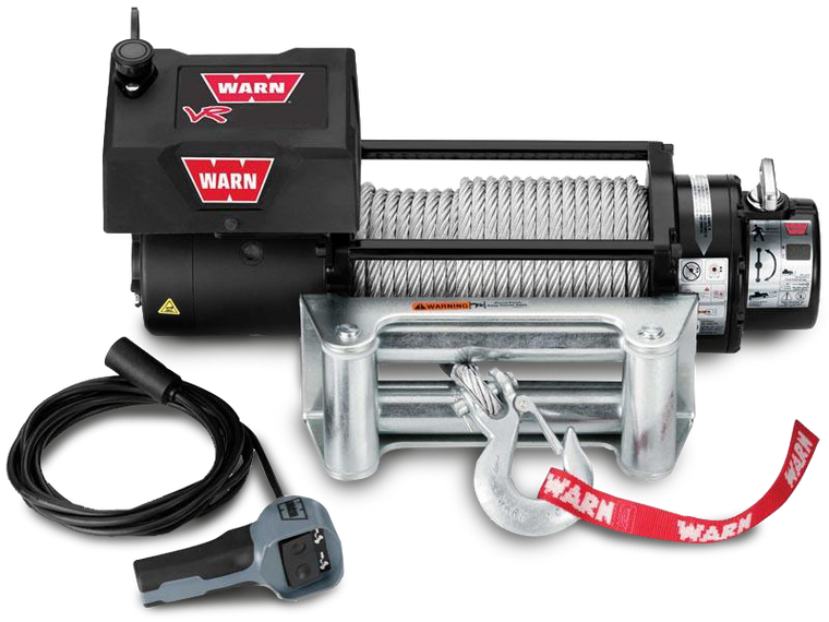 WARN VR 8000, 10000, 12000 Series Self-Recovery Winch with Synthetic Rope or Steel Cable