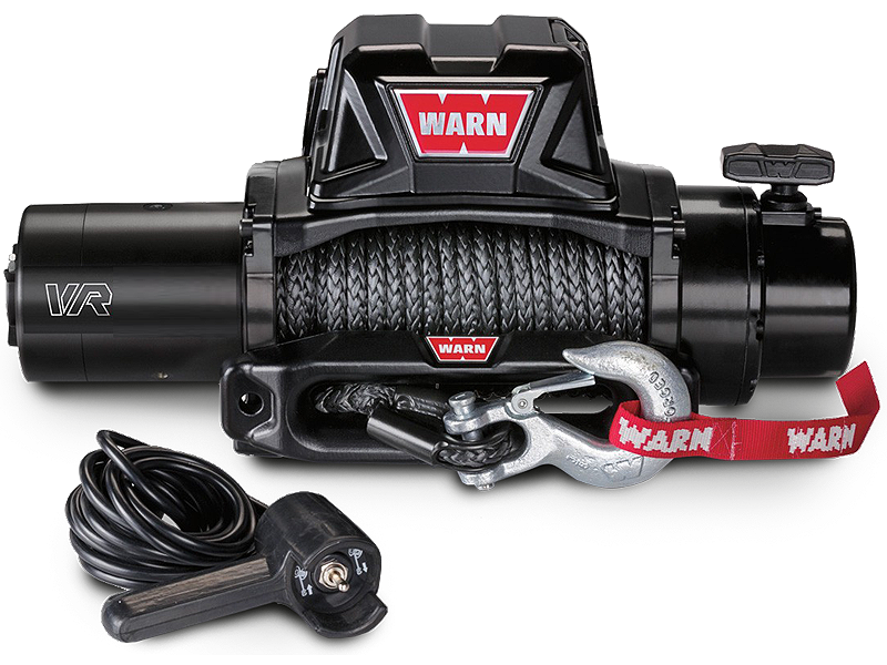 WARN VR 8, 10, 12 Self-Recovery Gen II Winch with Synthetic Rope or Steel Cable