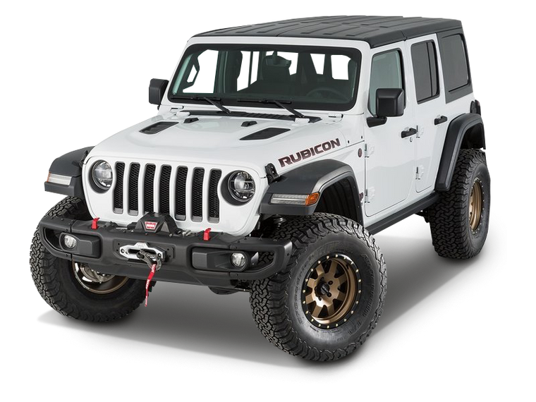 WARN Winch Carrier Kit (Rubicon Bumper Only) for 18-up Jeep Wrangler JL & JL Unlimited