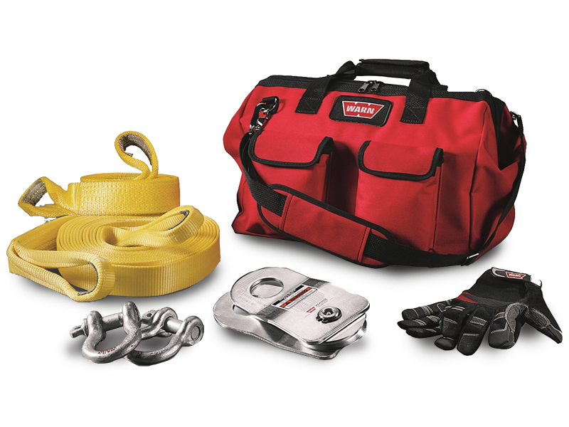 WARN Medium-Duty Winching Accessory Kit in Red