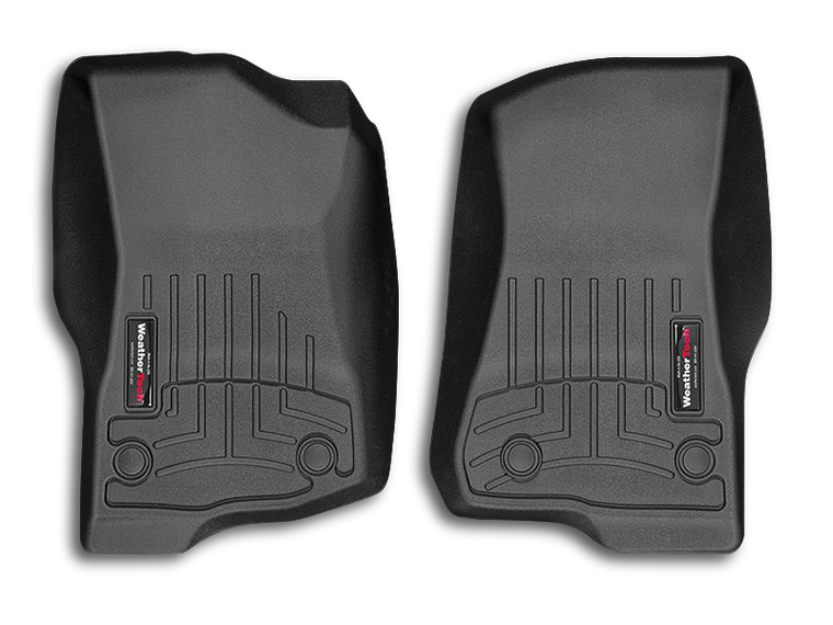 WEATHER TECH Floor Liners in Black, Front (Pair) for 18-up Jeep Wrangler JL & JL Unlimited