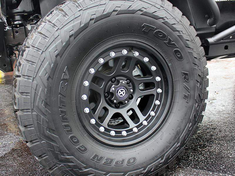"ATX 195 ""Cornice"" Wheel in Satin Black for 07-18 Jeep Wrangler JK & JK Unlimited"
