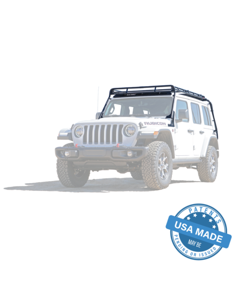 "GOBI Roof Rack ""Stealth"" for 18-up Jeep Wrangler JL & JL Unlimited"