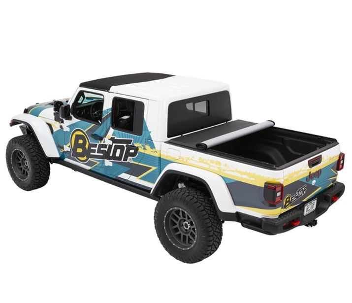 BESTOP EZ-Roll Soft Tonneau Cover, Black Diamond for 20-up Jeep 2020 Gladiator