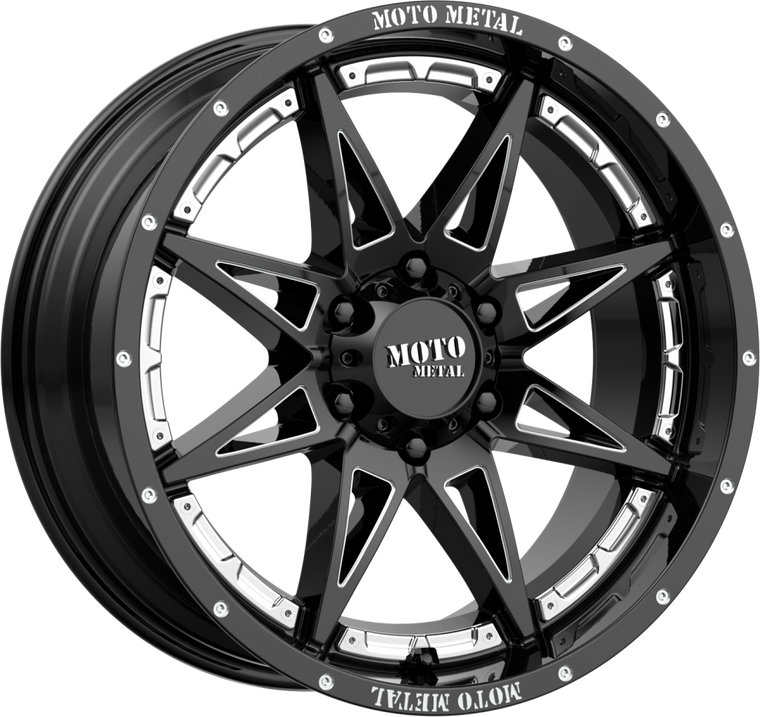 MOTO METAL 993 Hydra Wheel in Gloss Black for 07-18 Jeep Wrangler JK & JK Unlimited