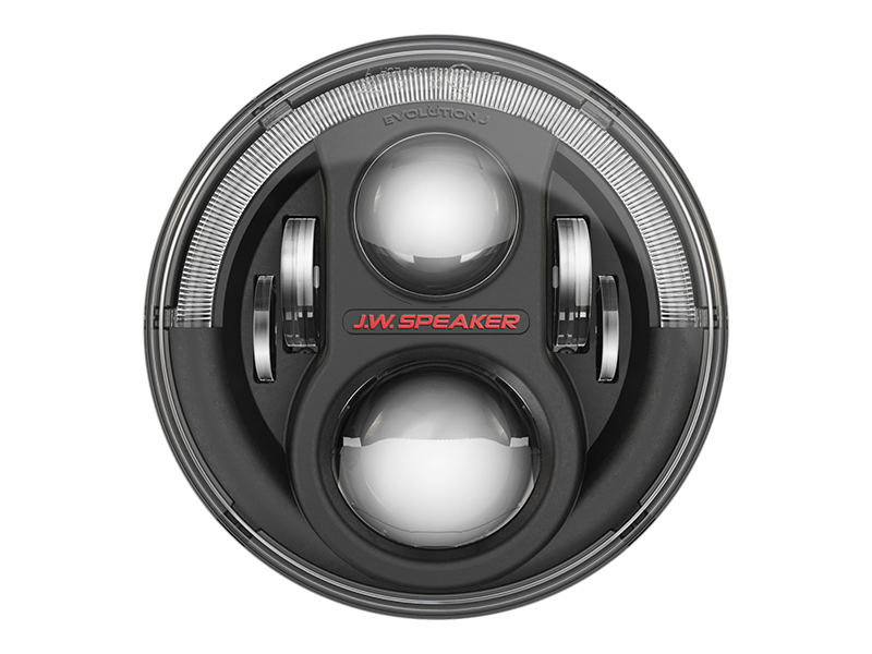"J.W. SPEAKER 7"" 8700 Evolution J2-Series LED Headlight Kit, Pair WITH ADAPTER to fit 18-up Jeep Wrangler JL & JL Unlimited"